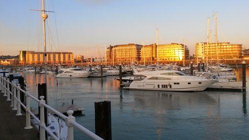 Marina in St Helier, Jersey